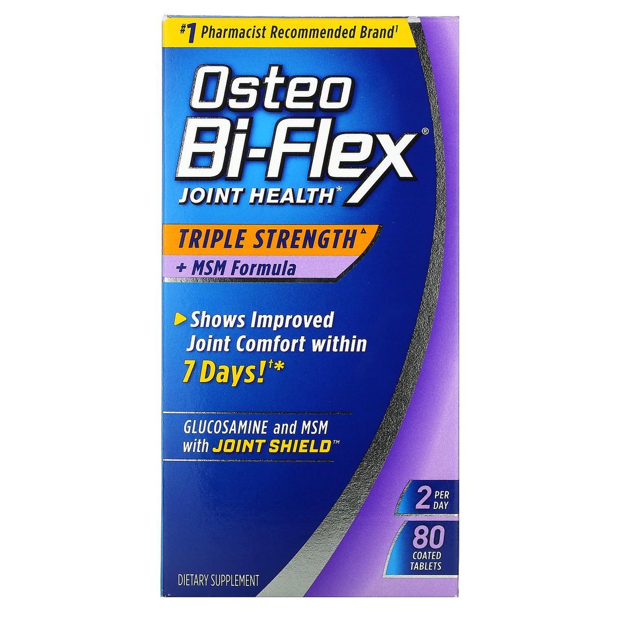 Биодобавка для здоровья суставов Osteo Bi-Flex с глюкозамином и MSM, 80 таблеток