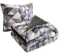 Одеяло зимнее 140х205 полуторное + подушка 50х70 антиаллергенное Абстракция Плюс