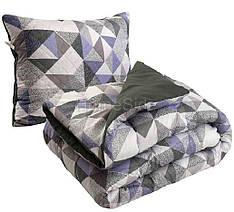 Одеяло зимнее 140х205 полуторное + подушка 50х70 антиаллергенное Абстракция