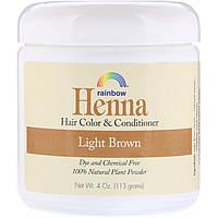 Rainbow Research, Хна, 100% растительная краска для волос и кондиционер, персидский светло-коричневый, 113 г