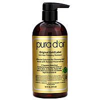 Шампунь от выпадения волос Pura D'or с биотином и аргановым маслом, без сульфатов, 473 мл