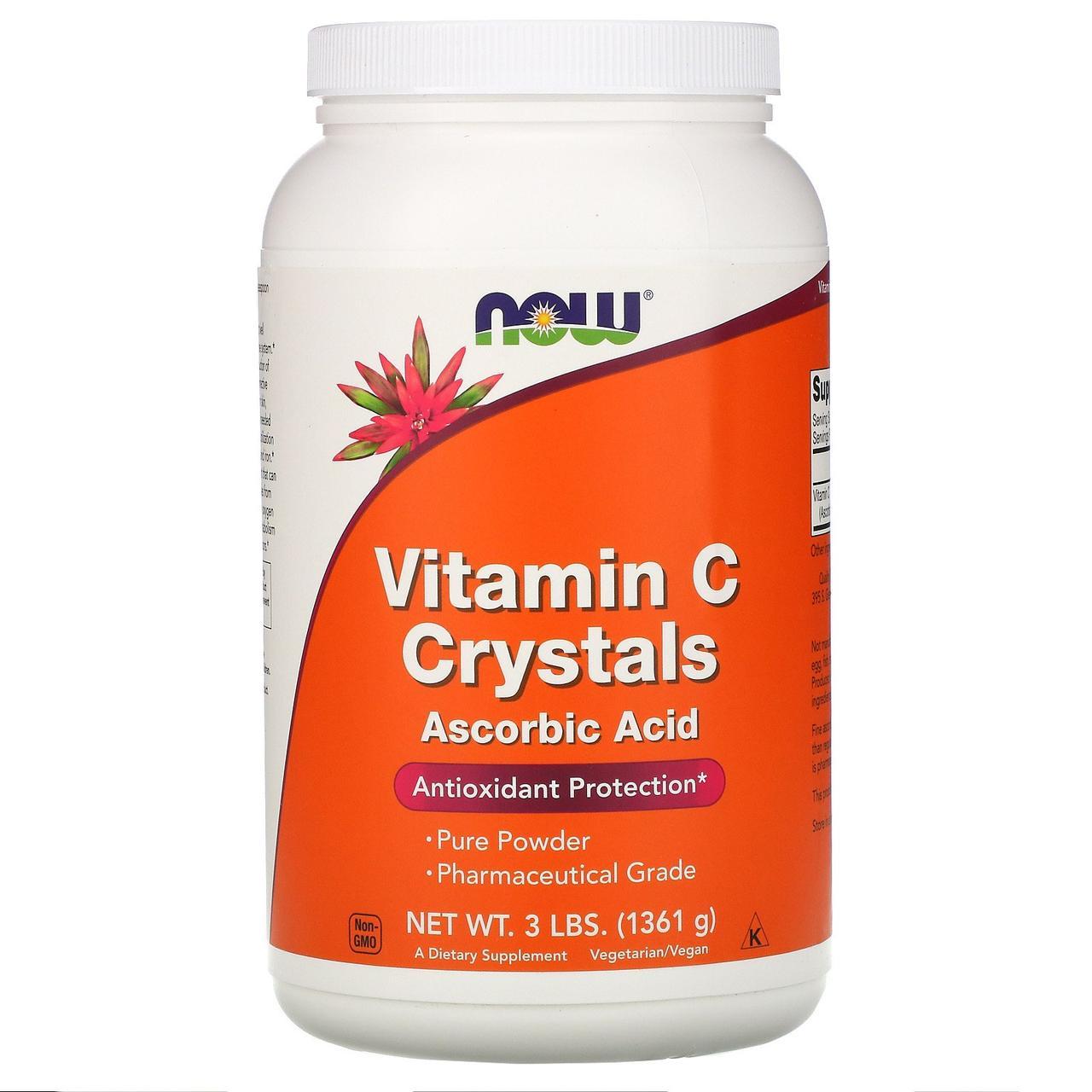 Витамин C Now Foods в кристаллах, 3 фунта (1361 г)