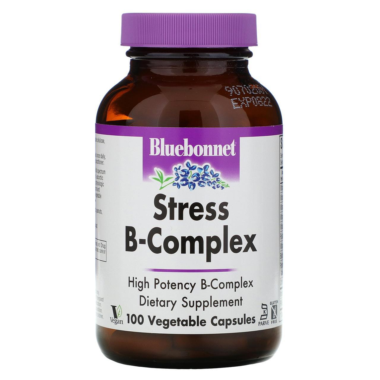 Комплекс - антистресс витамина B Bluebonnet Nutrition, 100 растительных капсул