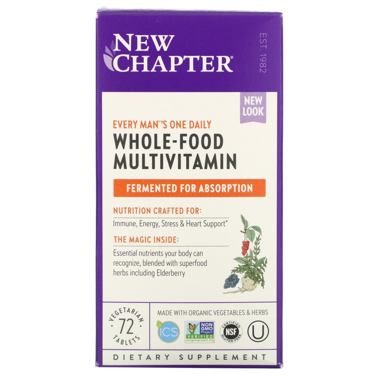 Ежедневные витамины для мужчин New Chapter, мультивитамин, 72 табл.