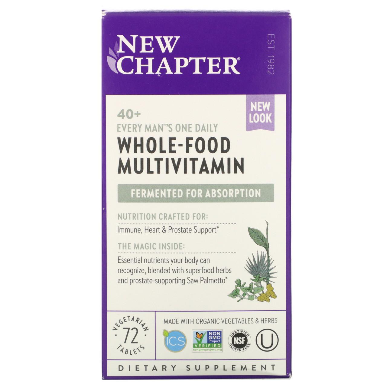 New Chapter, 40+ ежедневный комплекс мультивитиминов для мужчин, 72 таблетки