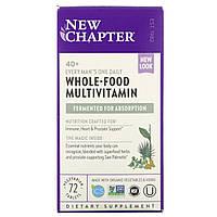 New Chapter, 40+ ежедневный комплекс мультивитиминов для мужчин, 72 таблетки, фото 1