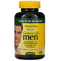 Nature's Plus, Source of Life, Мультивитамины и минералы для мужчин, без железа 120 таблеток, фото 1