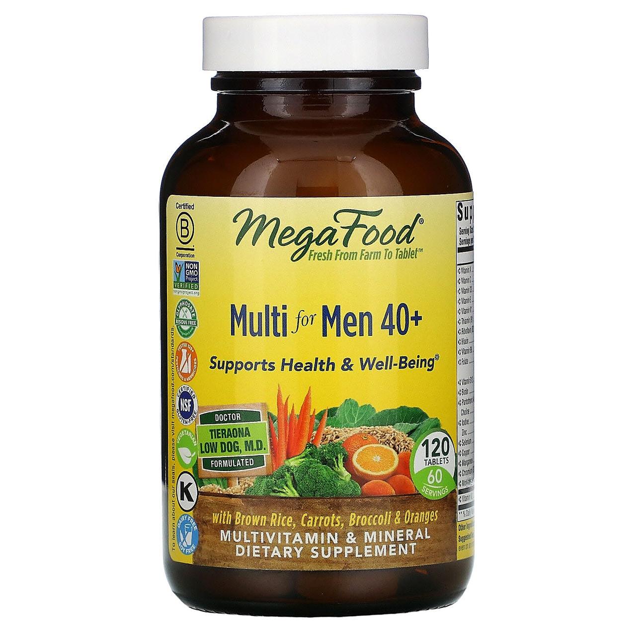 MegaFood, Multi for Men 40+, 120 Tablets