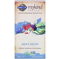 Garden of Life, MyKind Organics, мультивитамины для мужчин, цельный мультивитамин, 120 растительных таблеток, фото 1