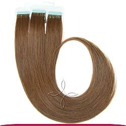 Натуральные Славянские Волосы на Лентах 40 см 100 грамм, Шоколад №05