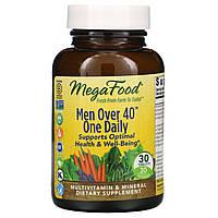 """MegaFood, Для мужчины старше 40 лет, """"Одна в день"""", формула без железа, 30 таблеток, фото 1"""