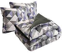 Одеяло 172х205 двуспальное + 2 подушки 50х70 зимнее антиаллергенное Абстракция