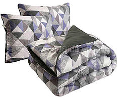 Одеяло 172х205 двуспальное + 2 подушки 50х70 антиаллергенное Абстракция