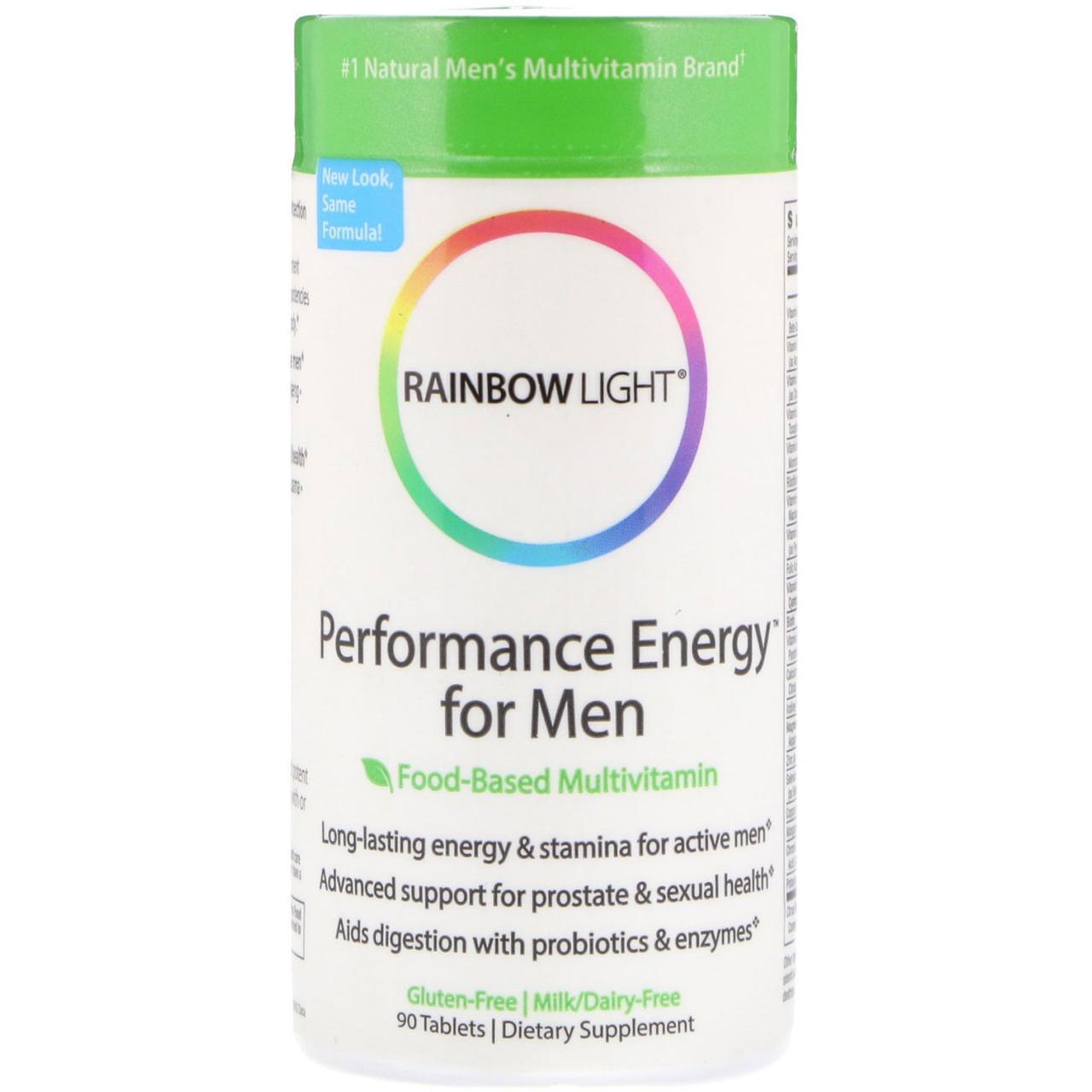 Витамины для мужчин Rainbow Light, Performance Energy для мужчин, мультивитамины, 90 таблеток