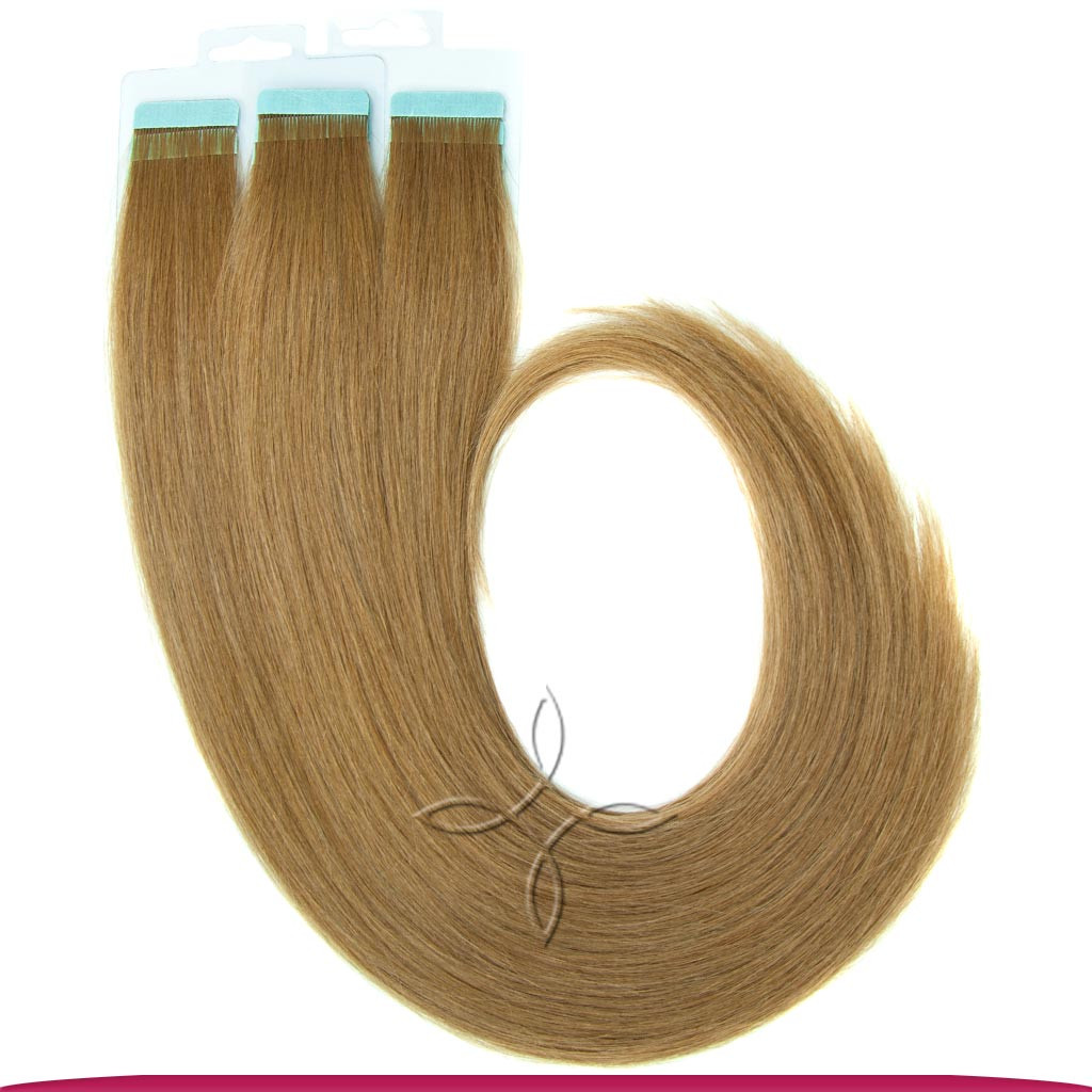 Натуральные Славянские Волосы на Лентах 50 см 100 грамм, Русый №7A