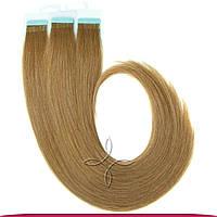 Натуральные славянские  волосы на лентах 55-60 см 100 грамм, Русый №07A