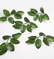 Штучні листя троянди 6-ка(Люкс),1упаковка=50шт., фото 1