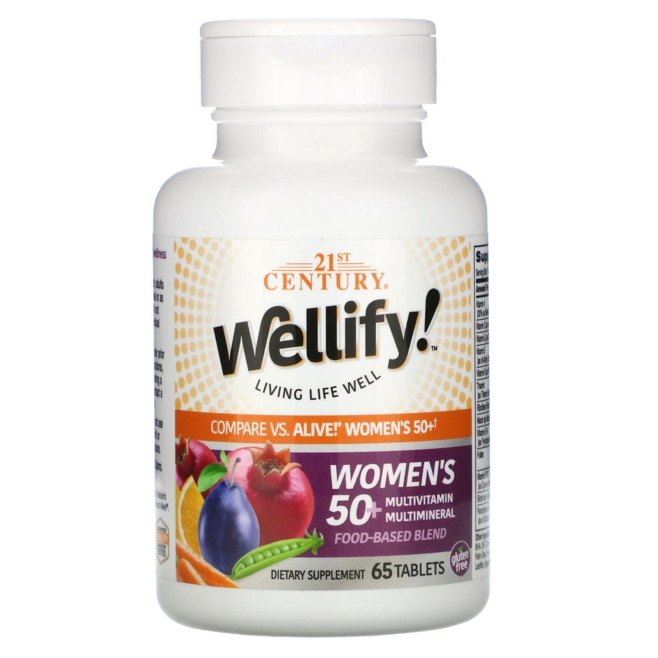 Витамины для женщин старше 50 лет, 21st Century, 65 таблеток