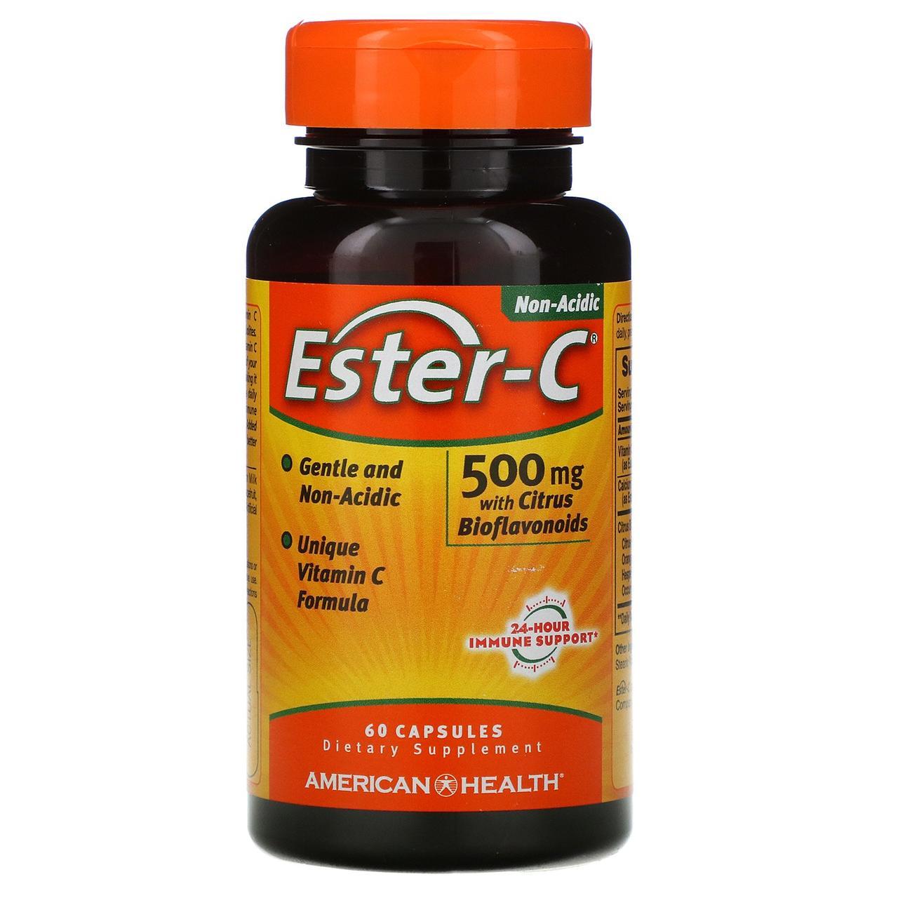 "Витамин С ""Эстер-C"" от American Health, 500 мг, 60 капсул"