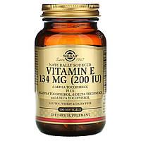 Витамин E Solgar, смешанные токоферолы, 200 МЕ, 100 rкапсул