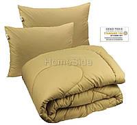 Одеяло зимнее 172х205 двуспальное  + 2 подушки 50х70 антиаллергенное Темно-Бежевое