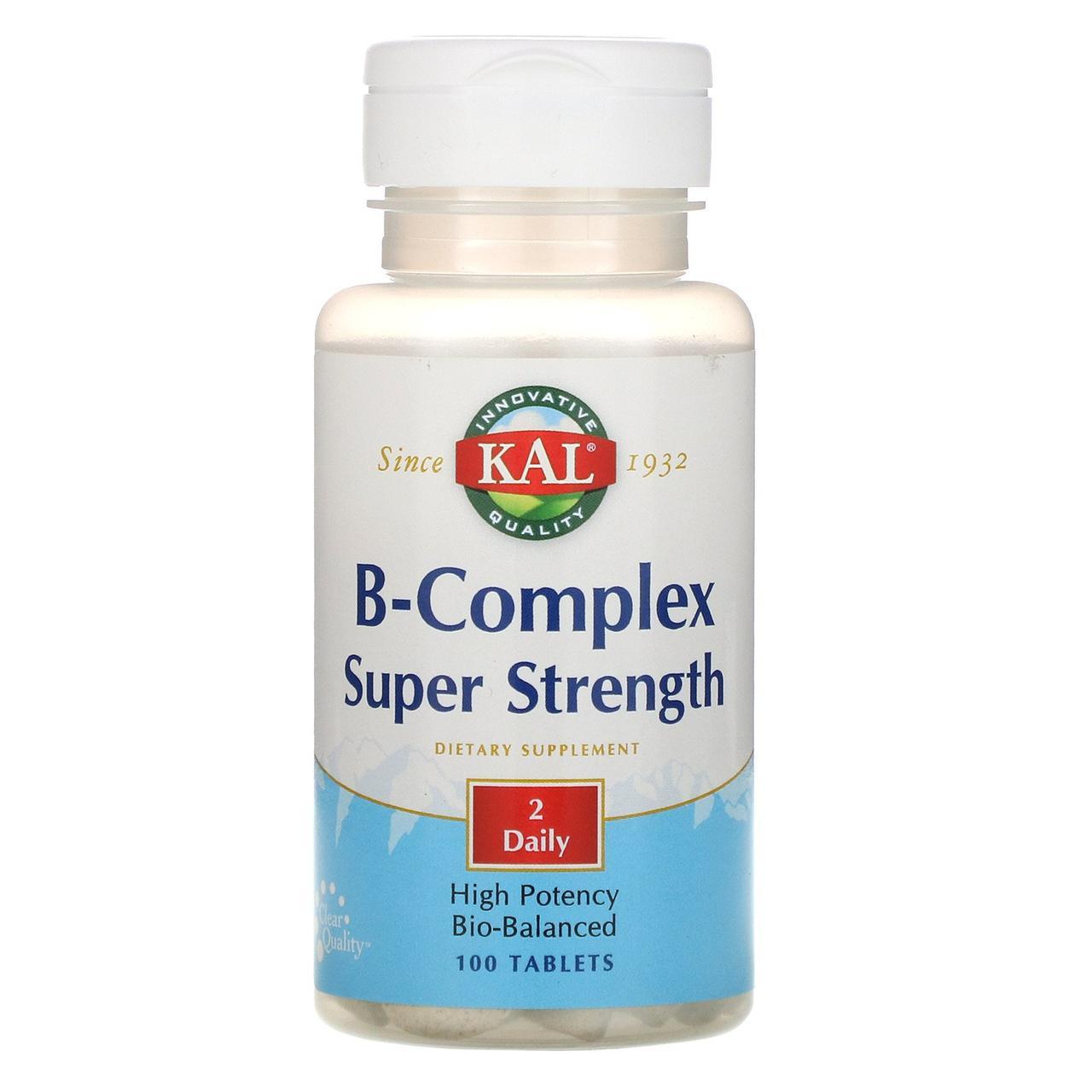 "Комплекс витаминов B ""Суперсила"" от KAL, 100 таблеток"