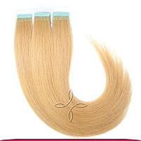 Натуральные славянские  волосы на лентах 45-50 см 100 грамм, Светло-русый №14