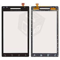 Touchscreen (сенсорный экран) для Motorola Milestone XT702, черный, оригинал