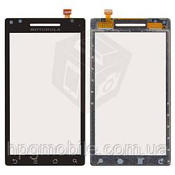 Touchscreen (сенсорный экран) для Motorola Qrty A853, черный, оригинал
