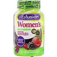 VitaFusion, Мультивитамины для женщин , натуральный вкус ягод, 70 жевательных таблеток