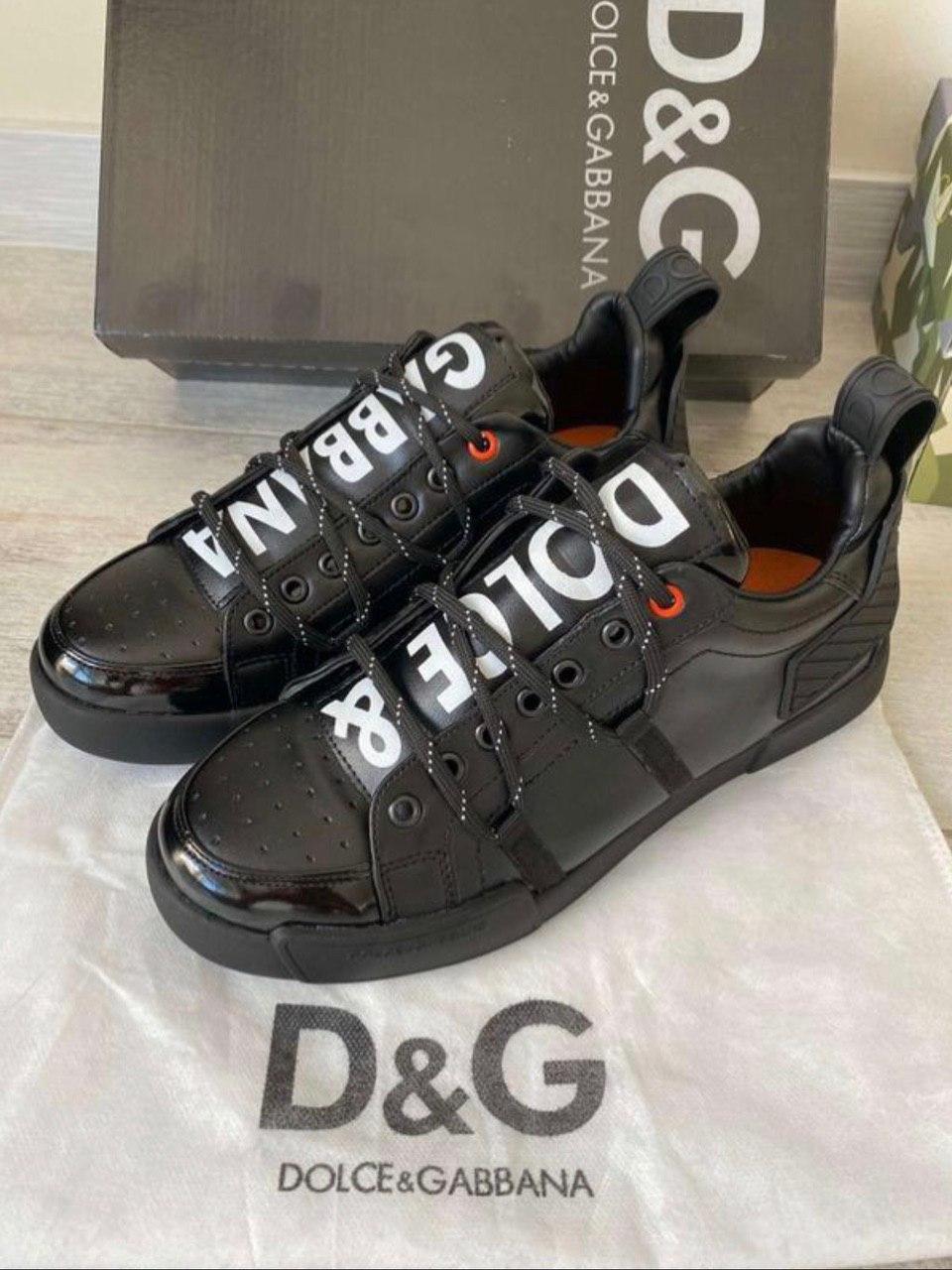 Мужские кроссовки Dolce & Gabbana D10143 черные
