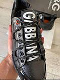 Мужские кроссовки Dolce & Gabbana D10143 черные, фото 4