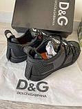 Мужские кроссовки Dolce & Gabbana D10143 черные, фото 3