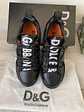 Мужские кроссовки Dolce & Gabbana D10143 черные, фото 5
