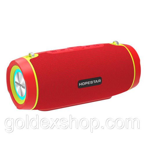Музыкальная колонка блютуз HOPESTAR-H45 party, StrongPower, c функцией speakerphone, радио, PowerBank, red