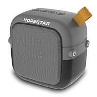 Музыкальная колонка блютуз HOPESTAR-T5 MINI, StrongPower, c функцией speakerphone, радио, grey