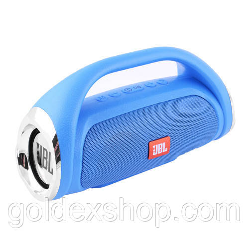 Музыкальная колонка блютуз JBL BOOMBOX SMALL, c функцией speakerphone, радио, PowerBank, blue