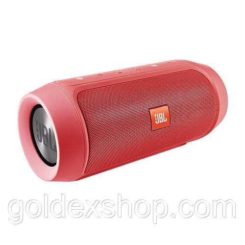 Музыкальная колонка блютуз JBL CHARGE 2+, c функцией PowerBank, радио, speakerphone, red