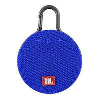 Музыкальная колонка блютуз JBL CLIP3, с карабином, радио, синий цвет