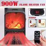 Компактный обогреватель камин мини быстрое тепло Flame Heater 900W, фото 4