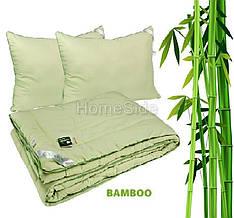 Одеяло с Подушками 172x205 Бамбуковое Двуспальное 250г/м2 Белый цвет Руно (925.52БКУ)