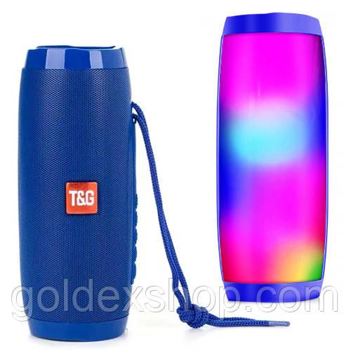 Музыкальная колонка блютуз SPS UBL TG157, c функцией speakerphone, радио, blue