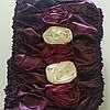 Обивка на гроб атласная с розами в ассортименте