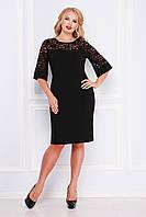 Платье женское черное нарядное больших размеров Размеры 50-56