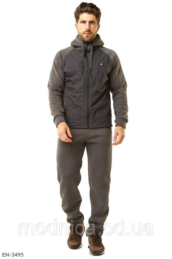 Теплий спортивний чоловічий костюм на флісі хорошої якості, розміри 48, 50, 52, 54, 56