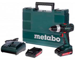 Акумуляторний шуруповерт Metabo BS 18 L + 2 акб 18 V 2 Ah + з/у SC 60 Plus + кейс КОД: 602321500
