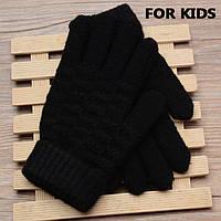 Детские вязанные перчатки Shouhushen Черный