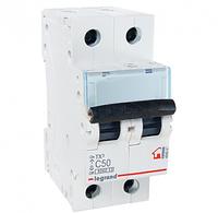 Автоматический выключатель 2-полюсный Legrand TX3 50A 2Р 6кА тип «C»