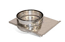 Шибер із нержавіючої  сталі Versia-Lux ф 125 мм товщина 0,6 мм з термоізоляцією в нержавіючому ко, КОД: