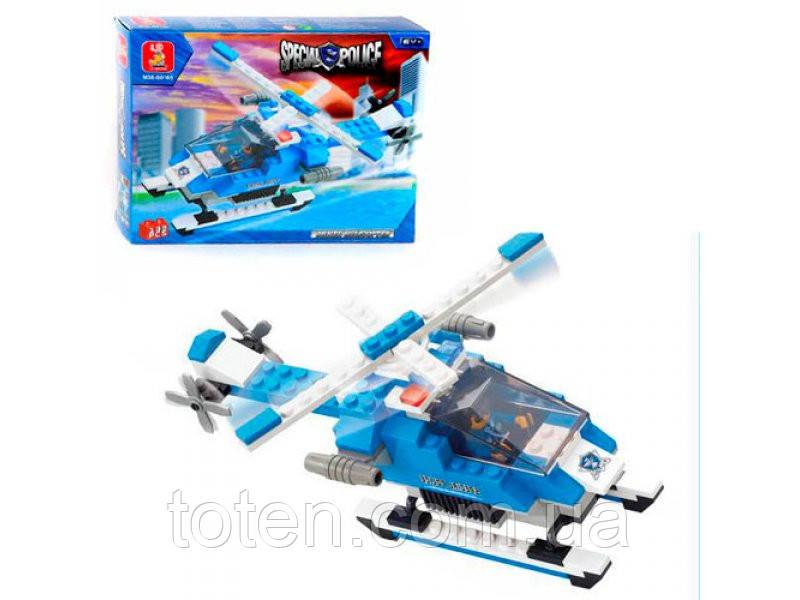 """Конструктор SLUBAN """"Вооруженный вертолет"""" 133 дет, 619980/M38B0185"""